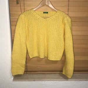 Yellow Benetton sweater